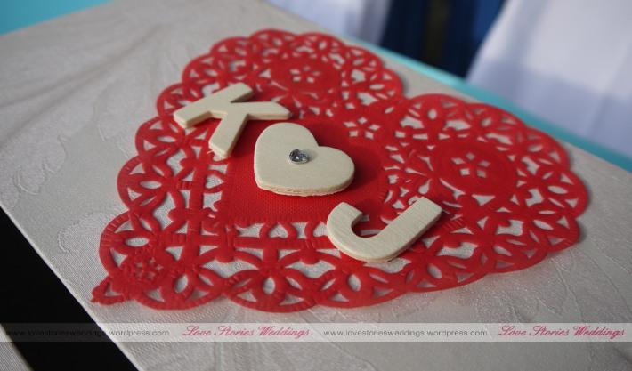Heartshape doilly